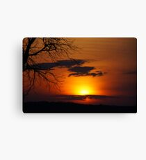 Dark sunset Canvas Print