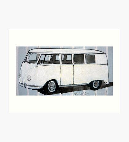 vintage camper Art Print
