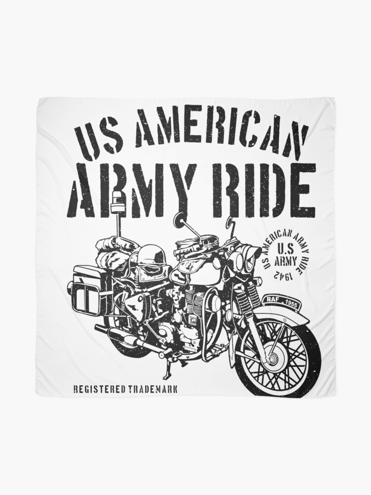 Alternate view of ARMY MOTORCYCLE MILITARY DIVISION Scarf