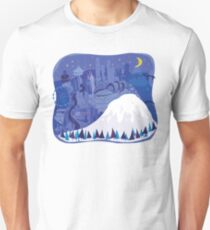Seattle Cityscape with Mt. Rainier by Wendy Wahman Unisex T-Shirt