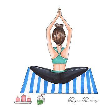 Yoga brunette by reyniramirezfi