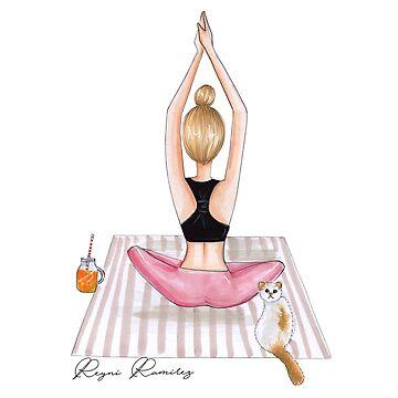 fitness blonde girl by reyniramirezfi