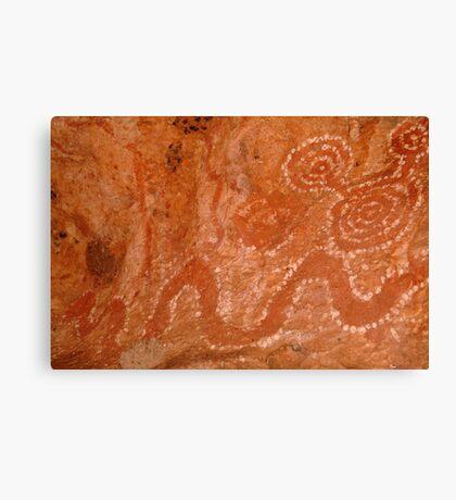 Aboriginal Rock Art,Balgo Hills.WA. Canvas Print