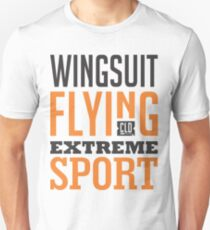 Wingsuit Flying Extreme Sport Graphic Art T-Shirt