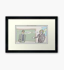 Beetlejuice + Ferris Bueller's Day Off Framed Print