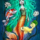 Koimaid - Mermaid with Koi Fish by DianaLevinArt