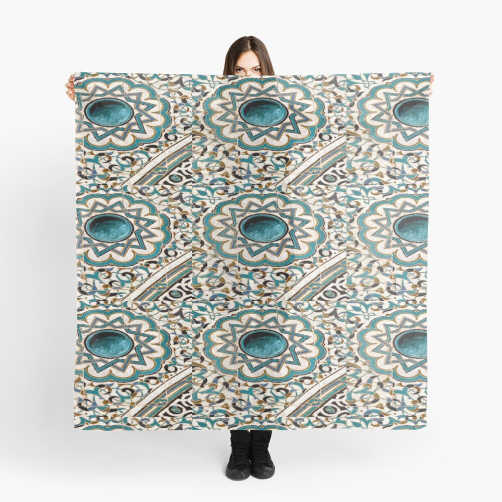 Mosaic Tiles of Moorish Design Scarf