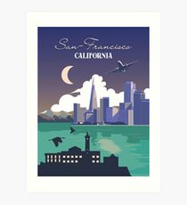 Vintage travel poster - San-Francisco, USA ⛔ HQ quality Art Print