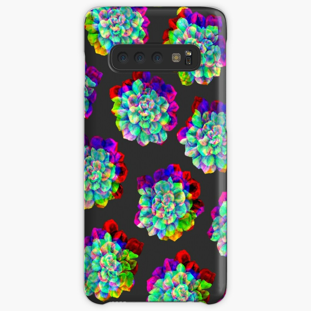 Glitched Succulents Case & Skin for Samsung Galaxy
