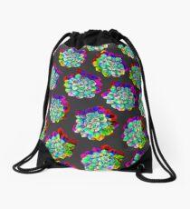Glitched Succulents Drawstring Bag