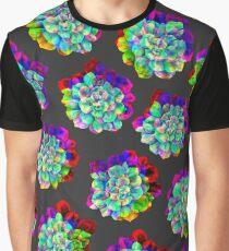 Glitched Succulents Grafik T-Shirt