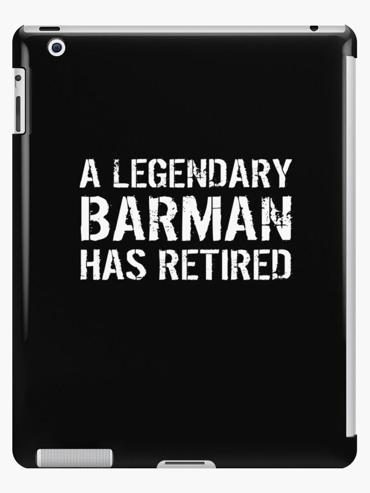 Pensioniertes Barkeeper-Barmann Mixologist-Geschenk im Ruhestand von George Filippo