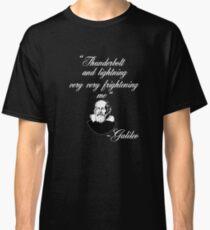 e8ea9313 Thunderbolt and Lightening Very Very Frightening Bohemian Galileo Funny  Rock Music Design Classic T-Shirt
