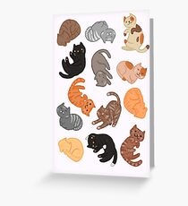Cats and Cats and Cats Greeting Card
