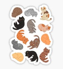 Cats and Cats and Cats Sticker