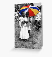 Colour In A Black & White World - Uganda, Eastern Africa Greeting Card