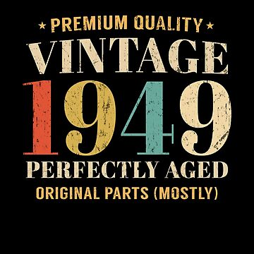 Vintage Est 1949 70 Years Old 70th Birthday Gift by SpecialtyGifts