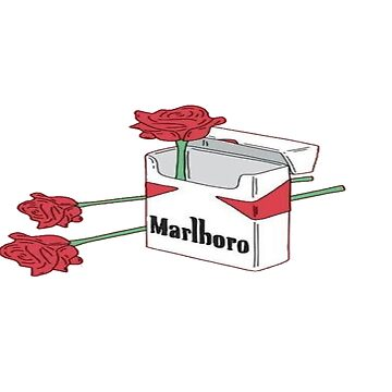 Smoking Roses Graphic Pop Art Design by lovelifetravel