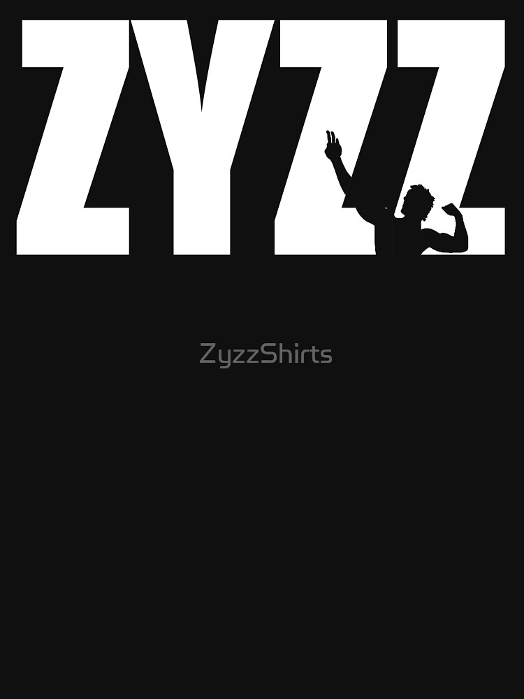 Zyzz Text White von ZyzzShirts