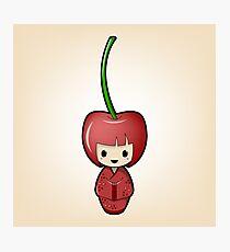 Cherry Kokeshi Doll Photographic Print