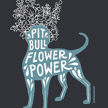 Pit Bull Flower Power II by SophieGamand
