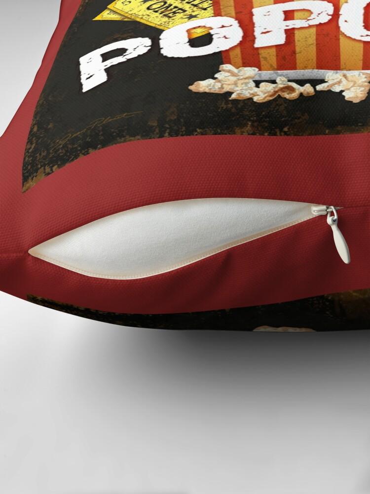 Vista alternativa de Cojines de suelo Arte de teatro de palomitas de maíz con mantequilla caliente