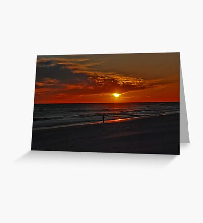 Sunset over the Gulf of Mexico Greeting Card
