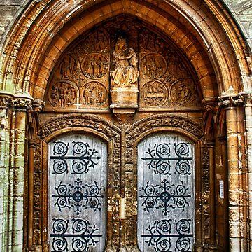 St Marys Church West Porch Door by InspiraImage