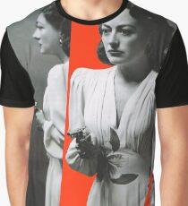 Joan Crawford - Mildred Pierce - Rote Collagenkunst Grafik T-Shirt