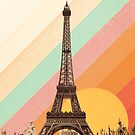 Rainbow Sky Above The Eiffel Tower by Florent Bodart