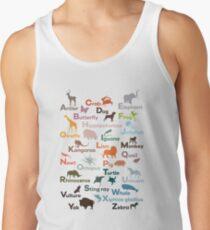Camisetas de tirantes para hombre Alfabeto animal Guardería Educativa  Aprendizaje feda3f060413f
