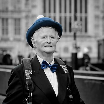 Lady in Blue Hat by AntSmith