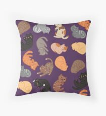 Cats and Cats and Cats Throw Pillow