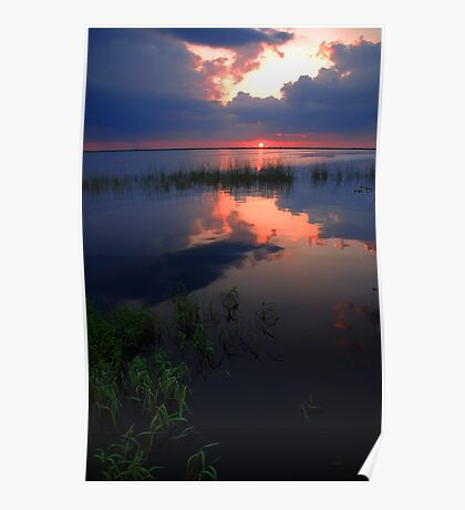 Pretty Reflection over the Water Poster