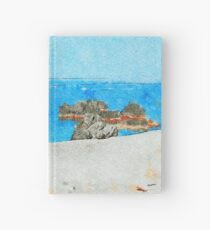 Seacoast of Scalea with rocks Hardcover Journal