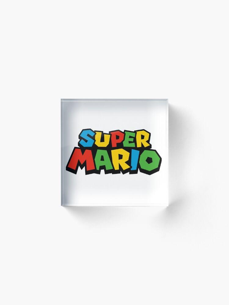 Vista alternativa de Bloque acrílico Super Mario Logo