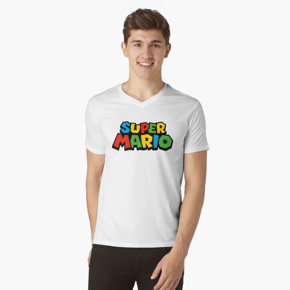 Super Mario Logo Camiseta de cuello en V
