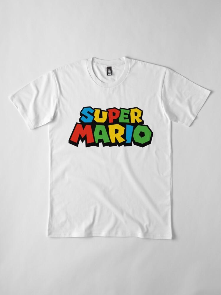Vista alternativa de Camiseta premium Super Mario Logo