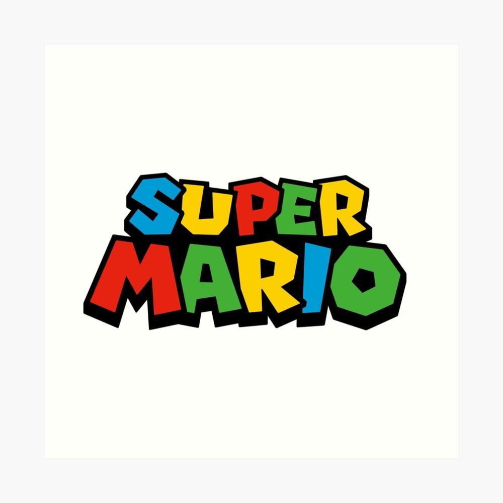 Super Mario Logo Lámina artística