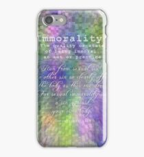 Bible 101-Immorality iPhone Case/Skin