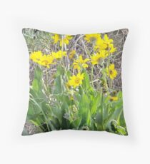 Arrowleaf Balsam Root with Sagebrush Throw Pillow