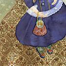 Watercolour, pattern William Morrris-Indian Diaper. by Masha Kurbatova