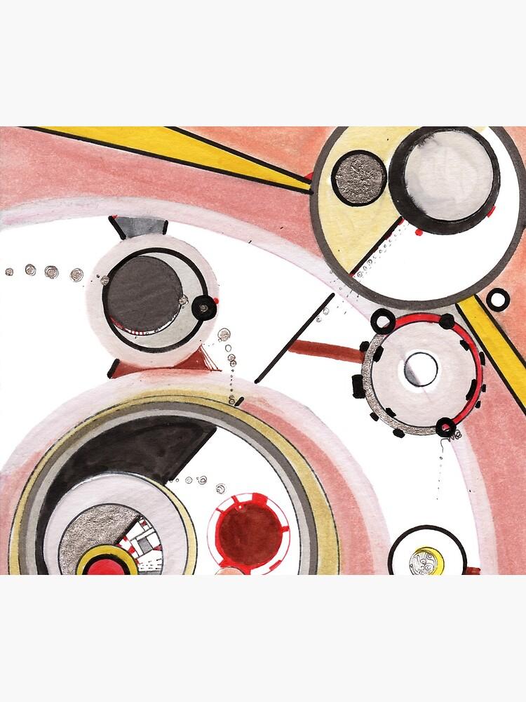 Mechanics of Modernity, Ink drawing by rvalluzzi
