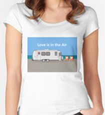 Love is in the Air - on the beach! Women's Fitted Scoop T-Shirt