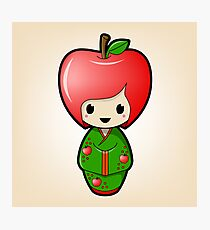 Apple Kokeshi Doll Photographic Print