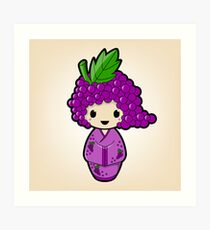 Grape Kokeshi Doll Art Print
