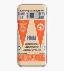 Manchester United vs Benfica - Retro Match Programme Samsung Galaxy Case/Skin