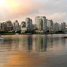 Vancouver across False Creek at Sunset... by RichImage