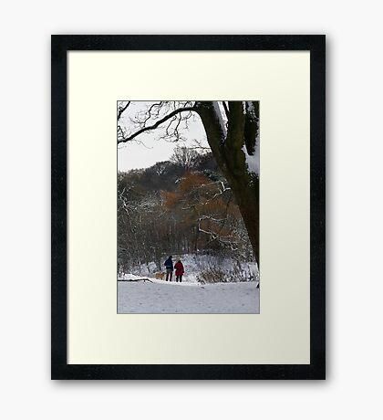 Corstorphine Wood - Christmas Eve 2009 Framed Print