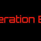 Generation Byte red text on black background by GenerationByte